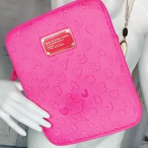 Marc Jacobs Hot Pink 3D Spellout Soft Tablet Case